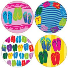 Hindostone Set of 4 Flip Flops Coasters