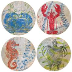 Hindostone Set of 4 Underwater Treasures Coasters