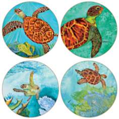 Hindostone Set of 4 Turtles Coasters