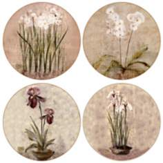 Hindostone Set of 4 Subtle Flowers Coasters