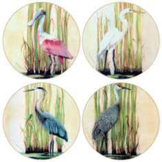 Hindostone Set of 4 Shore Birds Coasters