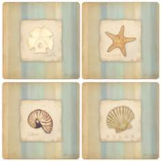 Hindostone Set of 4 Calming Sea Collection Coasters