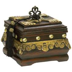 Gold and Dark Brown Camelot Box