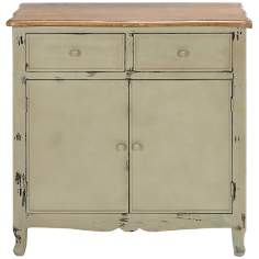 Saginaw Large Distressed White Wood Chest