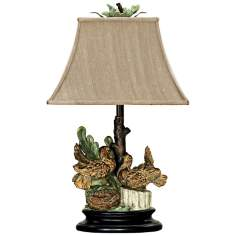 Nesting Doves Bloomfield Shantung Table Lamp