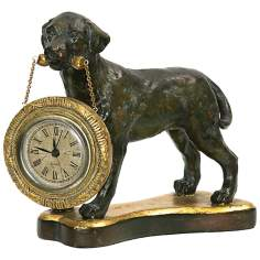 Labrador Retriever Black and Gold Desk Clock