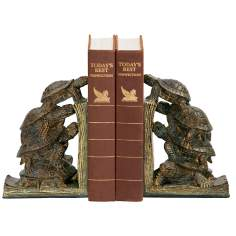 Set of 2 Turtle Tower Bookends