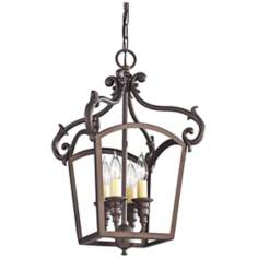 "Murray Feiss Luminary 11 3/4"" Wide Bronze Mini Chandelier"