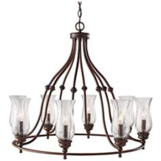 "Pickering Lane 31 1/2"" Wide 8-Light Bronze Chandelier"