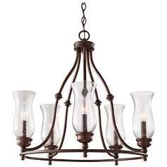 "Pickering Lane 24"" Wide 5-Light Bronze Chandelier"