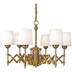 Murray Feiss Hugo 6-Light Expandable Bali Brass Chandelier