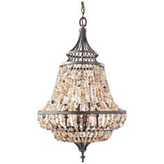 "Murray Feiss Maarid 18 1/4"" Wide Rustic Iron Chandelier"