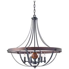 "Murray Feiss Alston 30 1/2""W Rustic Industrial Chandelier"