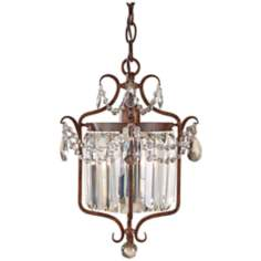 "Murray Feiss Gianna Scuro 10 1/2"" Wide Bronze Chandelier"