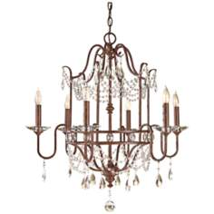 "Murray Feiss Gianna Scuro 26 1/4"" Wide Bronze Chandelier"