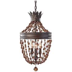 Murray Feiss Marcia Chocolate Crystal Mini Chandelier