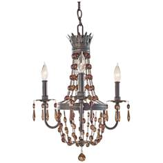 Murray Feiss Marcia 3-Light Chocolate Crystal Chandelier