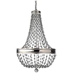 "Murray Feiss Malia 21 1/4"" Wide 8-Light Nickel Chandelier"