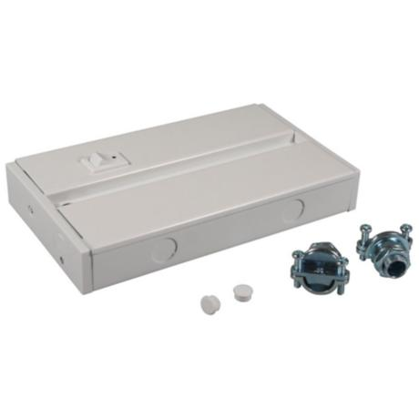 LED Complete White Under Cabinet Light Hardwire Box - #2G345