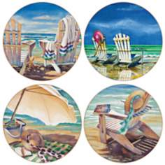 Hindostone Set of 4 Beach Time Coasters