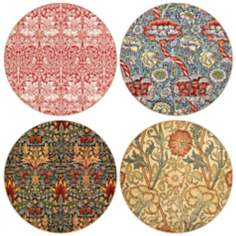 Hindostone Set of 4 William Morris Textiles Coasters