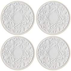 Hindostone Set of 4 Embossed Victorian Lace Coasters