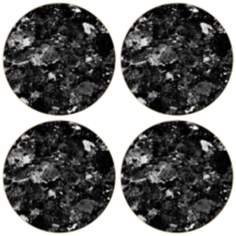 Hindostone Set of 4 Black Marble Coasters