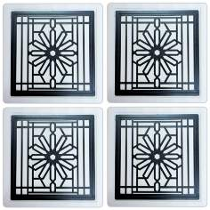 Hindostone Set of 4 Frank Lloyd Wright Rookery Coasters