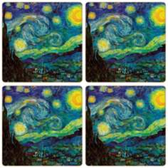 Hindostone Set of 4 Starry Night Coasters