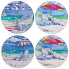 Hindostone Set of 4 Beaches Coasters