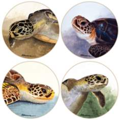 Hindostone Set of 4 Sea Turtles Coasters