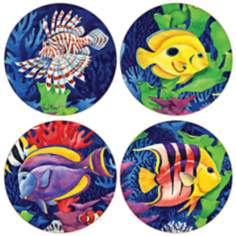 Hindostone Set of 4 Tropic Lagoon Coasters
