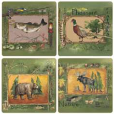 Hindostone Set of 4 Wilderness Coasters