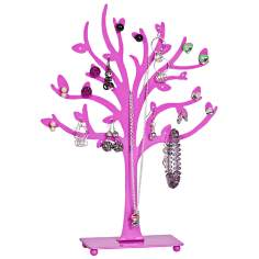 Mele & Co. Lisa Metal Tree Pink Jewelry Stand