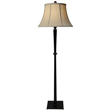 Natural Light Round Up Floor Lamp with Hopsack Bell Shade