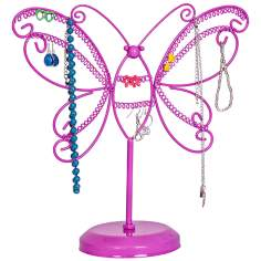 Mele & Co. Bella Metal Butterfly Pink Jewelry Stand