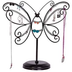 Mele & Co. Bella Metal Butterfly Black Jewelry Stand