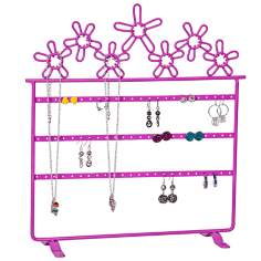 Mele & Co. Flora Metal Daisies Pink Jewelry Stand