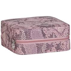 Mele & Co. Lucette Pink Faux Leather Travel Jewelry Case