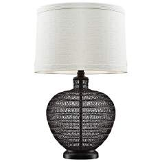 Lincoln Openwork Bronze Table Lamp