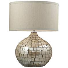 Canaan Cream Pearl Table Lamp