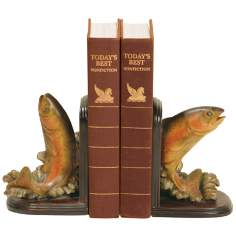 Set of 2 Rainbow Trout Bookends