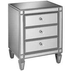 Emery Gray Tinted Mirrored 3-Drawer Chest