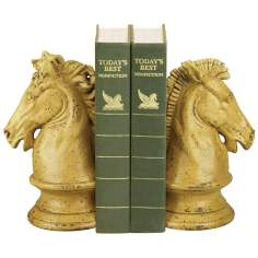 Knight's Stead Dark Yellow Bookends