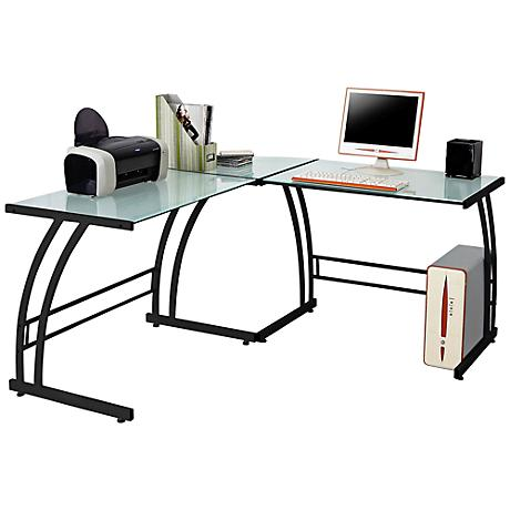 Gamma Modern Black Work Station