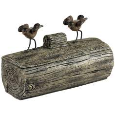 Little Birds on a Log Dark Grey Box