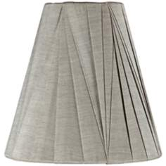 Dove Gray Modern Pleat Shade 3x6x6 (Clip-On)