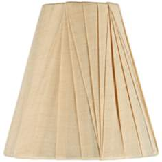Tan Modern Pleat Shade 3x6x6 (Clip-On)