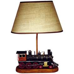 "Train Themed 21 1/4"" High Table Lamp With Shade"