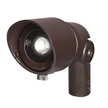 Radiax 3000K 60-Degree 4-Watt LED Rich Bronze Flood Light